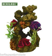 HERITAGE TB150 AQUARIUM FISH TANK CORAL GARDEN ON ROCKS ORNAMENT ROCK HIDE  19CM