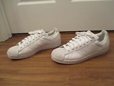 Used Worn Size 12 Adidas Superstar Shoes White With Black