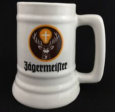 Jaegermeister Oktoberfest 1998 Beer Stein Mug Cup Deer Cross Brown Yellow Vtg