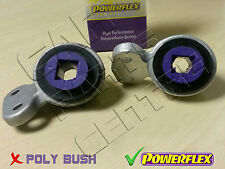 FOR BMW E46 FRONT LOWER CONTROL ARM REAR POWERFLEX BUSHES FITTED in HOLDERS
