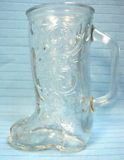 Western Cowboy Boot Shaped Clear Glass Mug Cup #15 with Handle