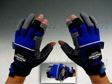 Promotion! Master craft Magnetic Gloves 3 Cut Finger Blue Fishing Gloves