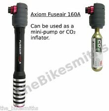 Axiom Fuseair 160A CO2 Inflator w/16g Cartridge & Mini Hand Pump Bike 160psi