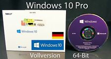 Microsoft Windows 10 Pro Vollversion SB 64-Bit mit Hologramm-DVD DE OVP NEU