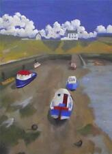 Northern Art Original Painting SEATON SLUICE  SW WARD M.A. FINE ART