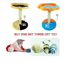 Cat Tree House Toy  With Resting Nest Area Scratch Post Furniture 11W X 15H