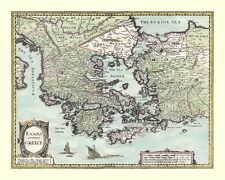GREECE Printed Full Size Replica 17c. John Speed map  A GREAT GIFT IDEA!
