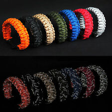 New Outdoor Survival Paracord Bracelet Reflective Parachute Cord Emergency Rope