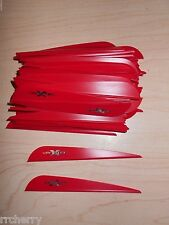 "100 4"" Red VaneTec V-Max Vanes! archery arrow fletching vane tec"