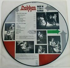 Dokken - Back In The Streets. 1989 Picture Disc LP Near Mint