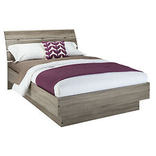 Queen Platform Bed Frame With Headboard Modern Panel Bedroom Furniture Size New