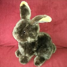 Target Bunny Rabbit 12in Chocolate Brown Soft Cuddly Upright Plush Tan Ear Tips