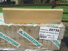 BRADSTONE ROUND TOP NOT ROPE TOP GARDEN EDGING STONES -KERBS-CREAM 20738 600X150