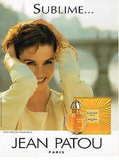 PUBLICITE ADVERTISING 064  1994  JEAN PATOU   parfum femme  SUBLIME