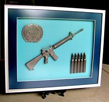 UN U.N United Nations Peacekeeping Peacekeepers C7 Rifle Display Frame
