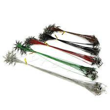 100pcs Lure Leader Wire Trace for Spinning Pike Fishing 160/180/220/240/280mm