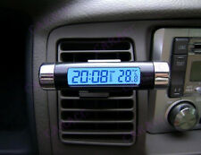 Car Air Vent Clip / Stick On Clock -Thermometer Temperature Digital LCD Display.