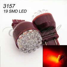 3157 4157 Super Red Round 19 LED 2x Bulbs *rt12 For Front Turn Signal Light