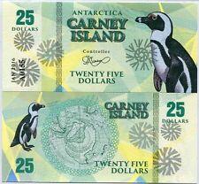 Carney Island 25 dollars 2016 UNC Antarctica - Penguin - Private Issue