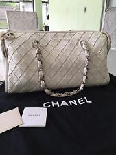 Chanel Quilted Lambskin Leather Large Size Ultimate Soft Sombrero Bowler Bag
