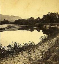 Stereoview Photo NH On the Meadows Looking Towards White Mts No Conway N W Pease