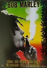 """BOB MARLEY Flag/ Tapestry/ Fabric Poster """"Herb""""  NEW"""