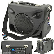 50W Portable/Handheld PA System – Mobile Wireless Speaker/Microphone USB Battery