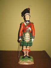 The Black Watch officer - Carl Thieme Dresden porcelain soldier, made in Germany