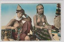 ANTIQUE FRENCH LESBIAN ARAB NUDE GIRLS TOPLESS BREAST COLOR PHOTO POSTCARD RPPC