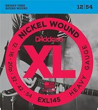 D'ADDARIO EXL145 NICKEL Heavy Gauge 12-54 GUITAR STRINGS  2 PACK