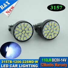 2XWhite T25 led lights 3157 3156 car brake light 1206 22SMD 110lm Car Turn Light