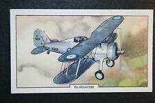 Gloster Gladiator  RAF Fighter  Original 1939 Vintage Card # VGC