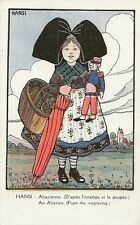 CARTE POSTALE FANTAISIE FOLKLORE COSTUME ALSACIENNE ILLUSTRATEUR HANSI