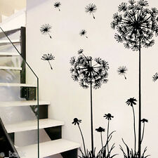 Black Creative PVC Dandelion Plant Tree Large Removable Home Wall Sticker Decal