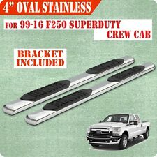 "For 99-16 Ford F250 Superduty Crew Cab 4"" running boards side step Nerf Bar Oval"