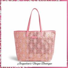 NEW Vera Bradley Mesh Sequin Tote Bag in Camocat Pink