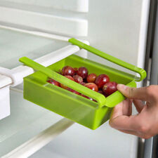 Multipurpose set of 4 Plastic Fridge Storage Shelf Holder Box Sliding Drawer