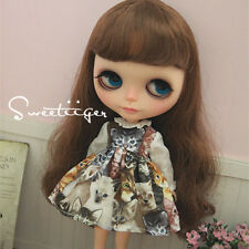"【Tii】kitten dress outfit 12"" 1/6 doll Blythe/Pullip/azone Clothes Handmade girl"