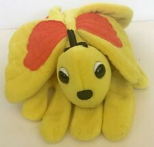 Plush Creations Yellow Butterfly Hand Puppet Glove Plush Stuffed Animal Toy