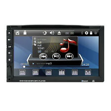 "Samsung Head Double 2Din 7"" Car Stereo Radio DVD Player iPod BT Ipod TV Mic MP3"