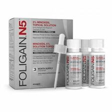 FOLIGAIN N5 5% MINOXIDIL Topical Solution Low Alcohol Formula 3 Months Supply