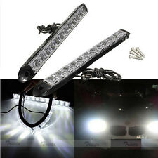 2x12 LED White Flexible Car DRL Daytime Running Light Driving Fog Light Lamp 12V