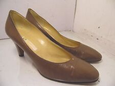 Gucci Brown Leather Pumps Heels Classic Womens Size 39.5 B
