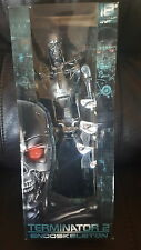 "18"" Light Up Eyes Poseable Action Figure Terminator 2 T-800 Endoskeleton NECA"