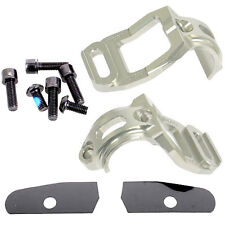 Hope Tech Brake Shifter Clamp Mount For Shimano XTR M-980 Pair - Silver - New