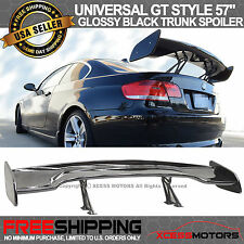 Adjustable ABS Black Rear Trunk Spoiler GT Wing 57 Inch 150Cm Glossy Black