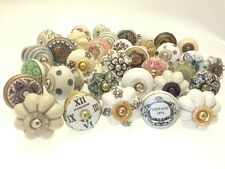 8 Mixed Shabby Chic Ceramic Cupboard Door Wardrobe Knobs 'Slight Seconds' D-202