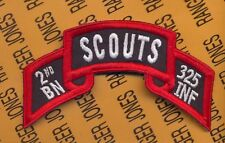 US Army 2nd Bn 325th Airborne Infantry Regt 82nd SCOUTS scroll patch