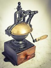 Antique PEUGEOT FRERES Coffee Grinder Mill Cast-Iron FRENCH Moulin cafe