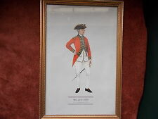 MILITARY FRAMED PRINT  BY P H SMITHERMAN (hugh evelyn print)(officer 49th foot)